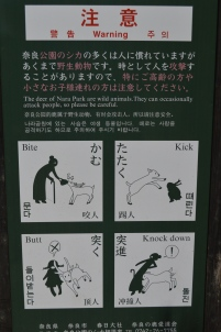 Interesting Signage at Nara