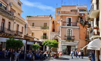 Some of the cafes we enjoyed in the old town of Taormina