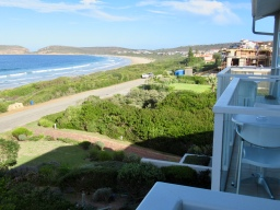 View from our room at The Robberg Beach Lodge