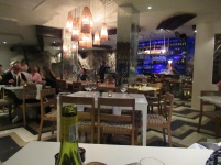 Seafood restaurant - The Fat Fish - Plettenberg Bay...built on side of a cliff face