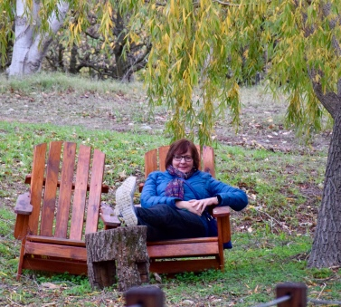 After a walk around the B&B vineyard/surrounds stopped here to take in views of the creek...a lovely spot for a picnic in warmer weather?