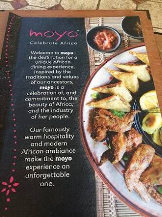 Front cover Moyo menu