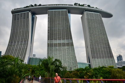 Eye catching sky scraper (hotel you can't miss!) near Gardens by Bay