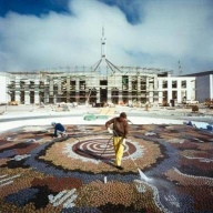 """New"" Parliament House officially opened 1988. Here's an interesting photo I found on the Net..."