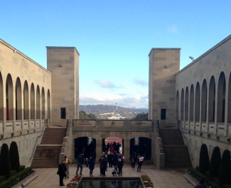 National War Memorial - view across to Old and New Parliament House