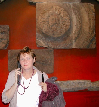Learning about Roman history in one of the many museums in Britain