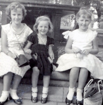 Me in the middle...2 more daughters after me...Dad was outnumbered big time