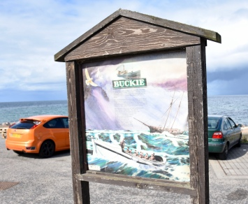 Interesting info boards about the history of district around Buckie