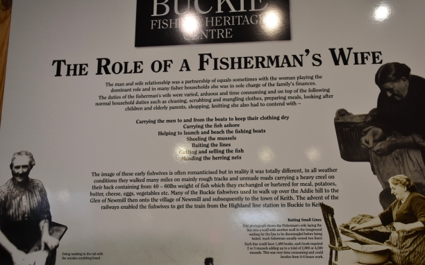 We enjoyed the Buckie Fishing Museum...I bought a t-towel about old superstitions!