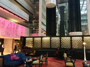 Lobby of Concorde Hotel on Orchard Road