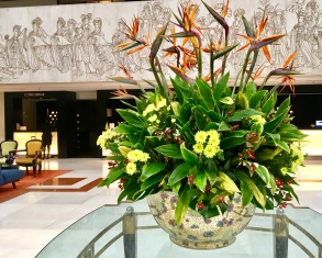 Concorde Hotel lobby...loved the flowers and the restaurant for yum-cha
