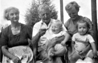 From left...Nana, Grandpa, my cousin, Mum with me in Balmain, Sydney
