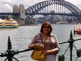 Me a few years ago...Balmain is opposite Luna Park (in background -Nth side) on Sth side of harbour