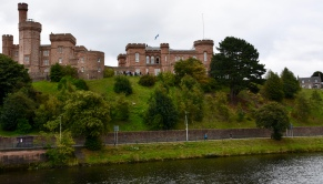 The Inverness Castle near the town