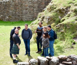 Another small group tour with guide in kilt