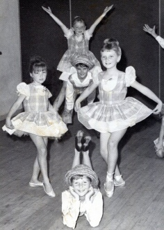 Had a British Dancing Scholarship and was often lead dancer - I'm at the front